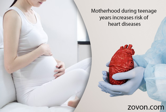 Motherhood during teenage years increases risk of heart diseases