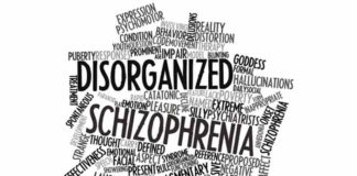 blockage in brains communication network result of schizophrenia