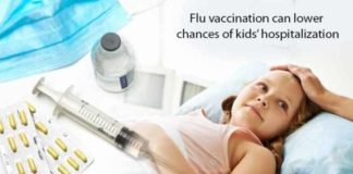 flu vaccination can lower chances of kids hospitalization