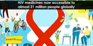hiv medicines now accessible to almost 21 million people globally