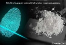 new fingerprint test might tell whether you are using cocaine