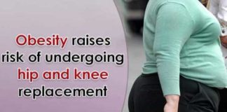obesity raises risk of undergoing hip and knee replacement