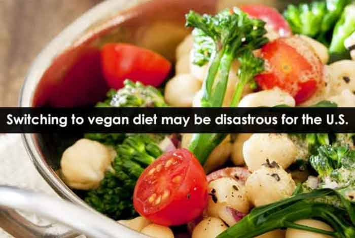 switching to vegan diet may be disastrous for the u.s