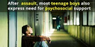 after assault most teenage boys also express need for psychosocial support