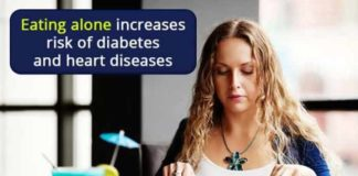 eating alone increases risk of diabetes and heart diseases