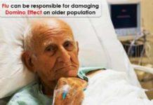 flu can be responsible for damaging domino effect on older population