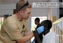 HIV rate drops in uganda