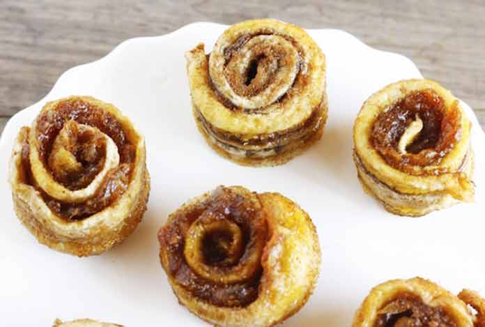 Banana Cinnamon Rolls for weight loss