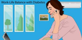 how to manage work life balance with diabetes