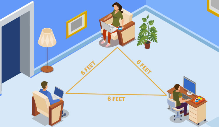 Six feet social distancing may not be enough for staying safe